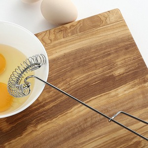 Stainless Steel Spring Egg Stirrer Beater Baking Pastry Tools Coil Whisk Milk Blender For Blending Whisking Beating & Stirring