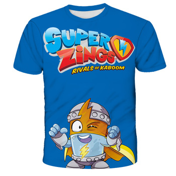 Superzings zabawna kreskówka moda T koszula dzieci Kawaii Super Zings dzieci śliczna koszulka Anime koszulki dla dzieci chłopcy dziewczęta T-shirt tanie i dobre opinie POLIESTER spandex CN (pochodzenie) CZTERY PORY ROKU 4-6y 7-12y 12 + y Damsko-męskie Na co dzień W stylu rysunkowym REGULAR