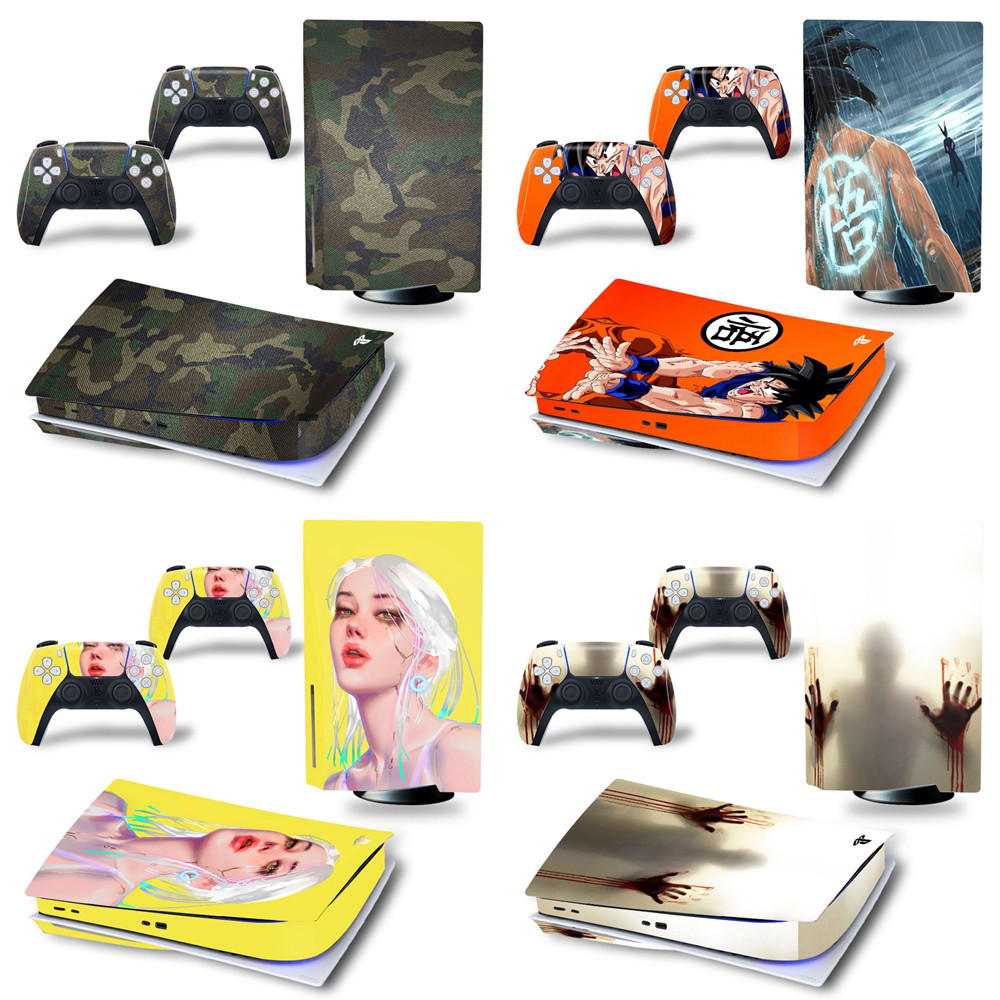 FOR ps5 Disk decal New Arrival wood designs PS5 disk Skin Sticker For Sony PlayStation 5 Console Controller PS5  Stickers Decal 1