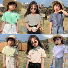 Quality Girl T-Shirt Summer Fashion Striped Childen Clothing Cotton Tees Casual T Shirt Kids Top Baby Clothes Boys T Shirts