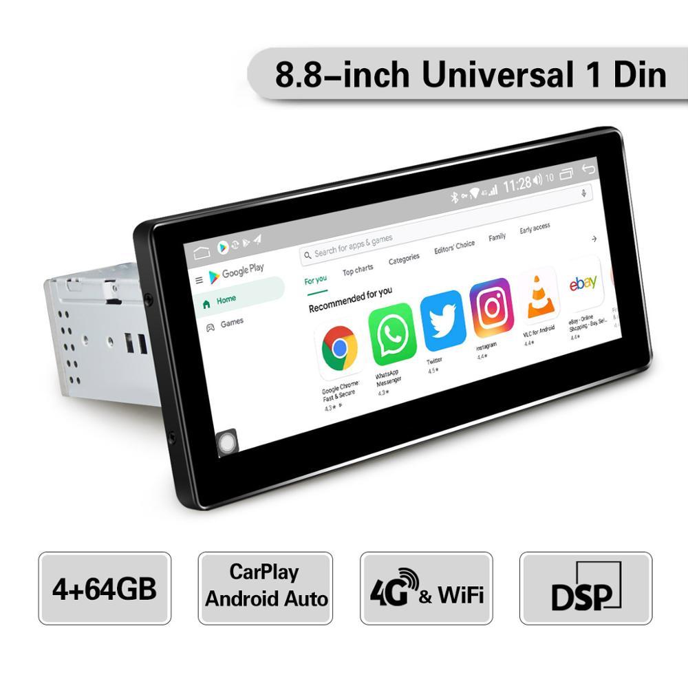 JOYING Android 8.1 Car Radio 4GB RAM & 64GB ROM GPS Navigation Car Audio Player 8.8