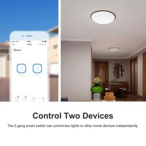 Image 4 - Itead Sonoff Dual R2 2 Gang Wifi светильник Smart Switch Time Schedule Smart Scene с помощью eWeLink работает с Alexa Google Home IFTTT