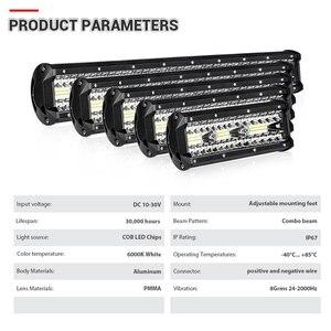 Image 4 - 4 7 9 12 15 18 20 Inch Offroad LED Bar Lũ Điểm Combo Xà Đơn Làm Việc Đèn Sương Mù đèn Trợ Sáng Cho UAZ KTM SUV ATV Đèn Pha