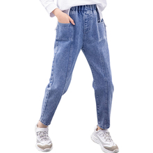 Girls Jeans Pants Patchwork Boys Winter Children's Casual for Autumn 6/8/10/12-14