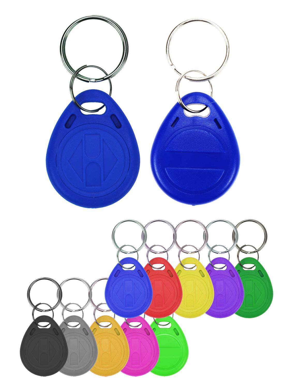 RFID Tag Keyfobs Ring-Card Access-Duplicate Proximity-Token Key-Copy Rewritable EM T5577
