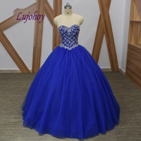 Royal Blue Luxury Quinceanera Dresses Ball Gown Plus Size 15 year old Sixteen Masquerade Sweet 16 Dress Prom Dress
