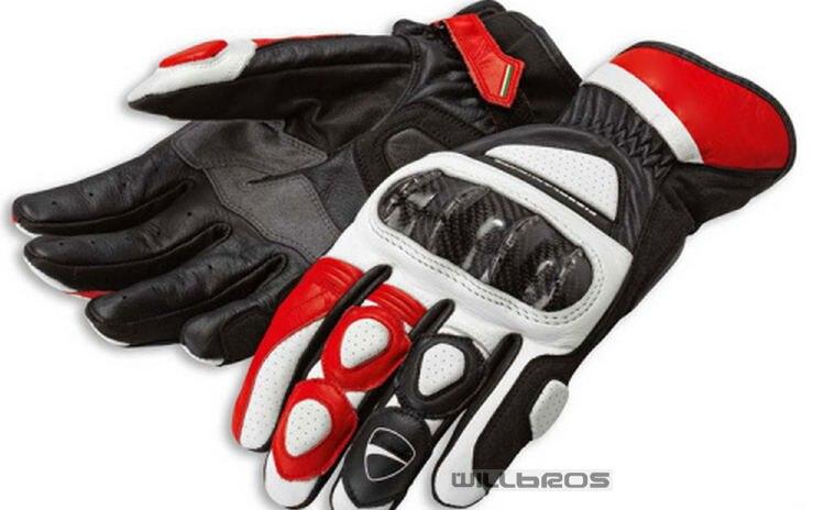 Sport 2 C2 Genuine Leather Glove Motorbike Locomotive MTB Bike Off-road Motocross Motorcycle Gloves