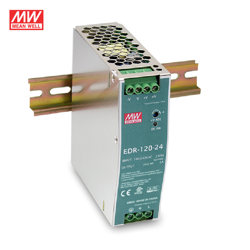 MEAN WELL EDR <font><b>24V</b></font> <font><b>5A</b></font> <font><b>120W</b></font> Rail DC Transformer DR Switching Power Supply image