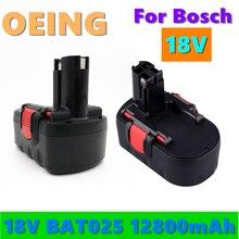 Mais novo para bosch 18v 12800mah ni-cd bateria de ferramenta elétrica recarregável para bosch bat038 15614 1661 1661k 22614 23614 32614 33614