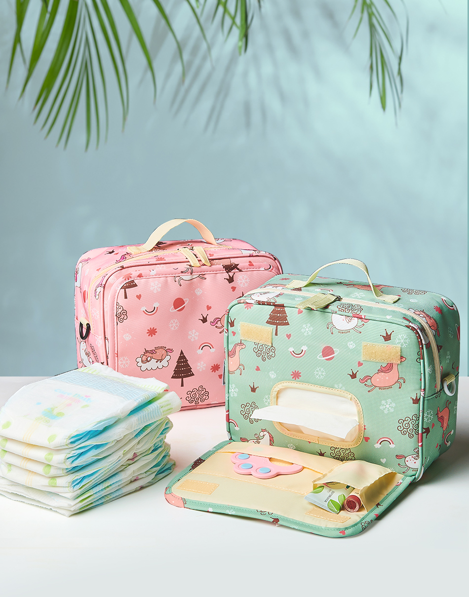 Diaper Pouch with Zipper