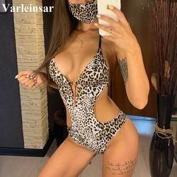 S - XXL Leopard With Mask Large Size Swimwear Plus Size One Piece Swimsuit Female Women Bather Bathing Suit Swim Monokini V2336