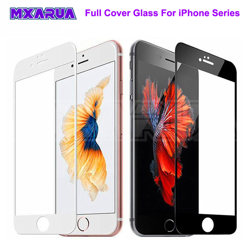 999D Curved Edge Tempered Glass On The For IPhone 7 8 6 6S Plus Screen Protector For IPhone 11 Pro X XS Max XR Protective Glass