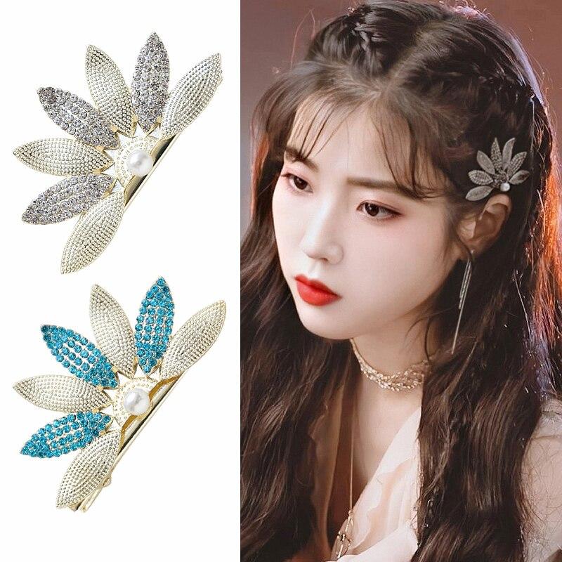 Pinza para el pelo DEL Hotel LUNA misma chica coreana dulce moda horquillas horquilla perla IU TV accesorio para mujer de moda de ensueño