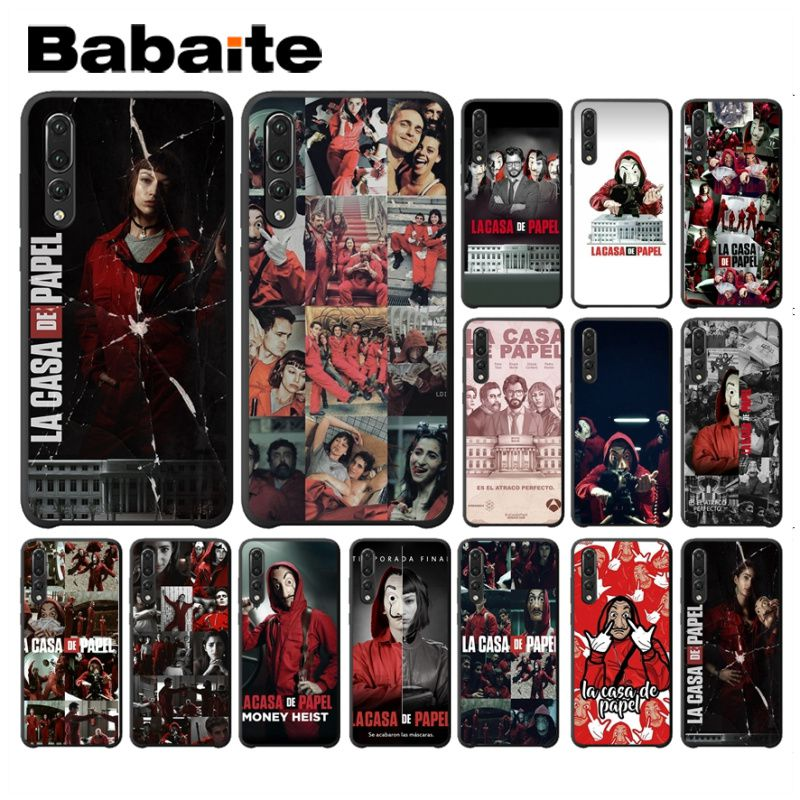 TV series Money Heist House of Paper Soft Shell Phone case For huawei p20 pro p20lite honor8x nova 3i mate20 pro p30pro coque image