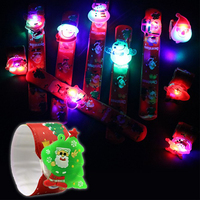 LED Glowing Bangle Fluorescent Bracelet New Year Christmas Party Supplies Concert Carnival Night Santa Claus Lighting Wristband