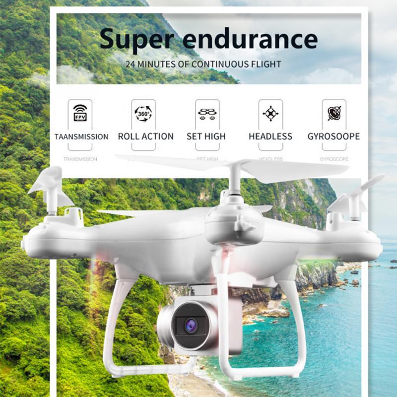 Hjmax rc quadcopter ための子供のおもちゃトレーニング wi fi 夕食耐久ドローン内蔵 720 1080p hd カメラ fpv rc ドローン白黒 -