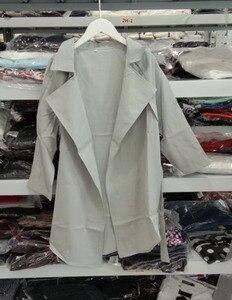 Image 5 - LANMREM 2020 Spring New Fashion Casual Women Long Coat Solid Color Loose Large Size Belt Windbreaker TC113