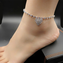New fashion ladies anklet simple electroplating micro-set rhinestone bracelet jewelry party wedding stage accessories