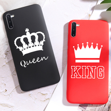 Phone Case sFor Samsung Note 10 Coque S8 S9 S10 S10e Plus 8 9 King Queen Crowns Candy Silicone Cover Fundas