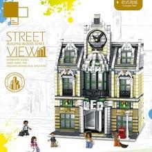 Город МОС серии Streetview Grand emperium построить свадебный зал модель строительные блоки кирпичи legoing 10211 игрушка Рождественский подарок 14248