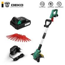 DEKO DKGT06 20 в литиевый 1500/2000 мАч беспроводной триммер для травы с аккумуляторной батареей и подвески с лезвиями регулируемый Рабочий угол