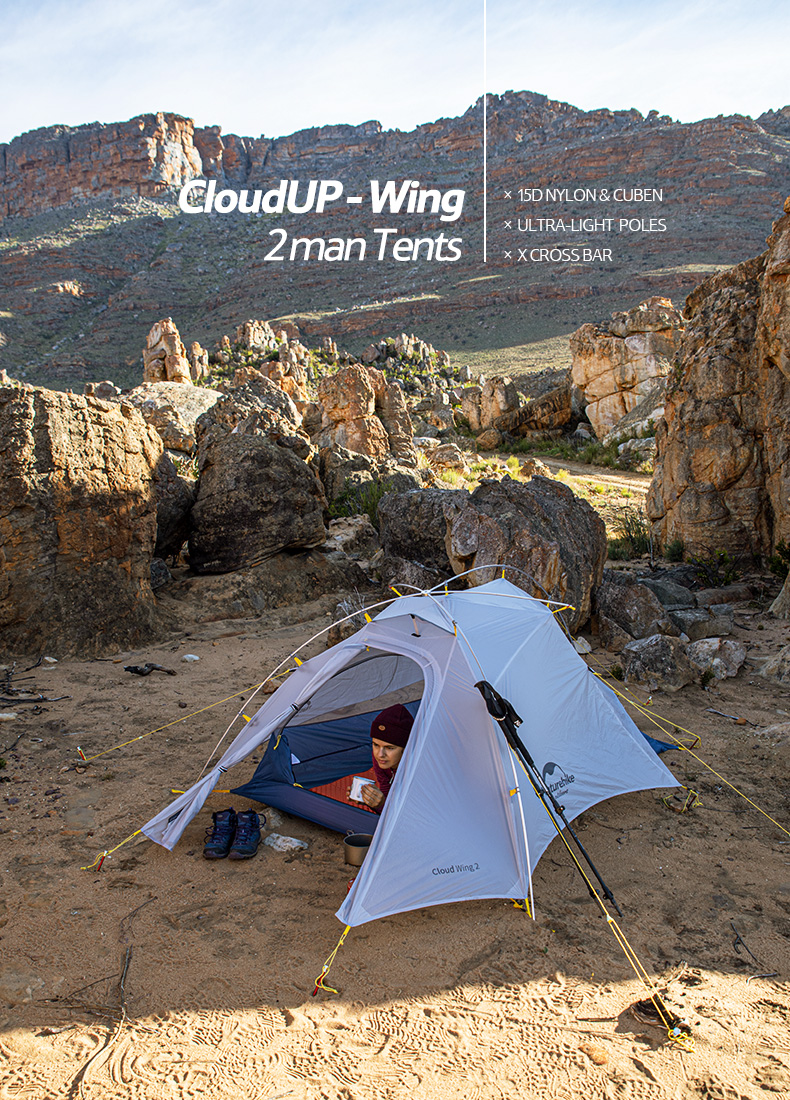 Naturehike CloudUP-Wings Ultralight Profesi/ón Tienda para 2 Personas 3-4 Temporada Tienda para Acampar Senderismo