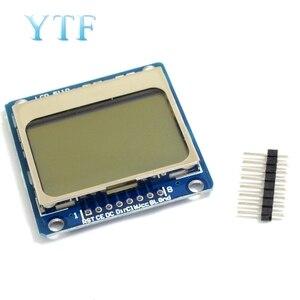 Electrónica Inteligente módulo LCD Monitor de pantalla azul retroiluminación adaptador PCB 84*48 84x84 Lcd 5110 Nokia 5110 pantalla para Arduino