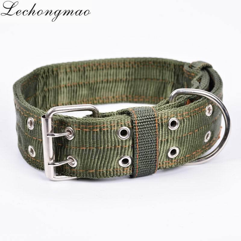 Hot Selling Nylon Army Green Pet Collar Double Layer Dog Collar Neck Ring Pet Supplies Overstock Processing