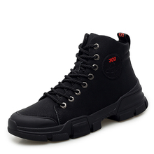 Leather Men Winter Shoes Fashion Boots Pointed Toe Mid-Calf For Male Snow shoes *89055