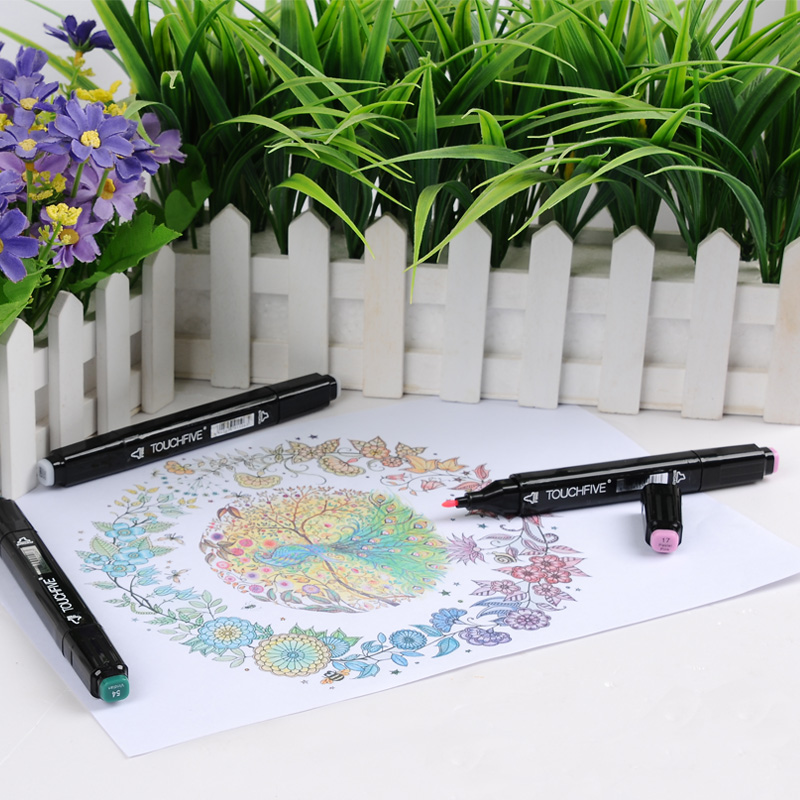 TOUCHFIVE Black Single Sketch Art Marker Twin Tip Manga Animation Design Art Supplies For Painting Illustration Art Marker