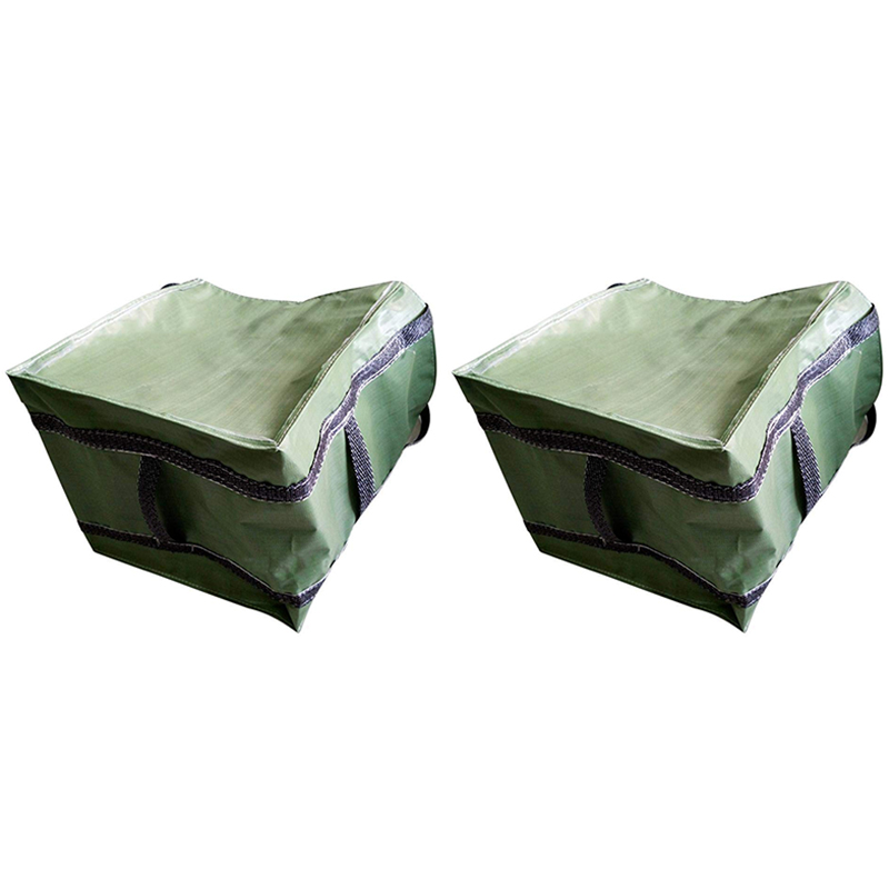 Storage Bag Foldable Waterproof PP Garden Garbage Bag For Collecting Fallen Leaves, Storage Basket, Storage Bag, 2 Packs