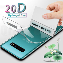цена на 20D Front Back Full Cover Hydrogel Film For Samsung Galaxy S20 Ultra S9 S8 Plus Screen Protector For Note 10 9 8 Plus Not Glass