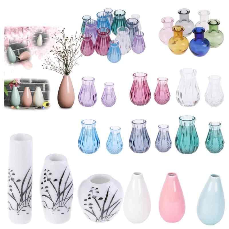 Nuovo Stile 1:12 Casa di Bambola Vaso di Fiori Vaso di Ceramica Teiera Bacino Mobili giocattolo Dollhouse Miniature Accessori FAI DA TE