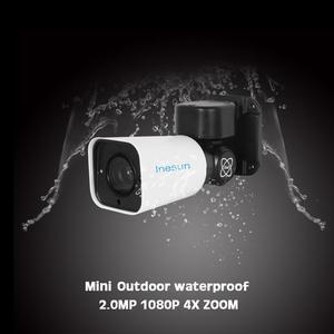 Image 2 - Inesun Mini caméra de surveillance extérieure PTZ IP Super HD 2MP/5MP, avec Zoom optique x4, codec H.265, Vision nocturne infrarouge 120ft, protocole Onvif P2P