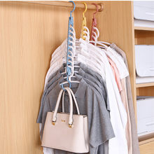 9 hole magic clothes hanger multi-function folding hanger rotating clothes hanger wardrobe drying clothes Hanger Home Organizer