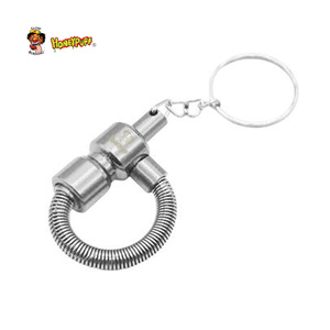 Image 4 - Honeypuff Metal Spring  Pipe Metal Portable Tobacco Pipe with Key Chain Cigarette Pipe  Accessories