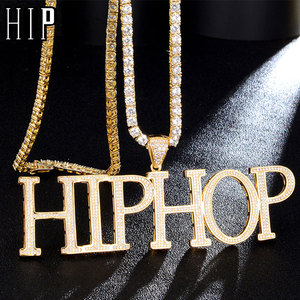Hip Hop Custom Name Bubble Cubic Zirconia Bling Combination Words Iced Out Chain Pendants & Necklaces For Men Jewelry