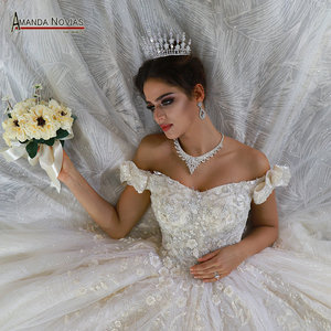Image 1 - Seksi düğün elbisesi gerçek fotoğraflar hochzeit sapanlar düğün elbisesi 2020 yeni