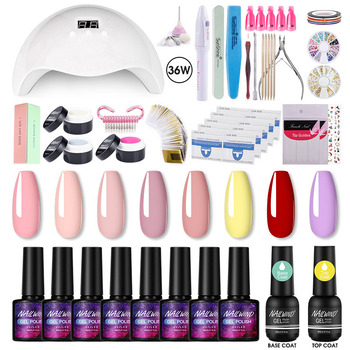 NAILWIND Gel Nail Polish Set 8ML Manicure Set For Manicure Tool Kit Gel Varnishes Semi Permanent Pure Color UV Gel Set