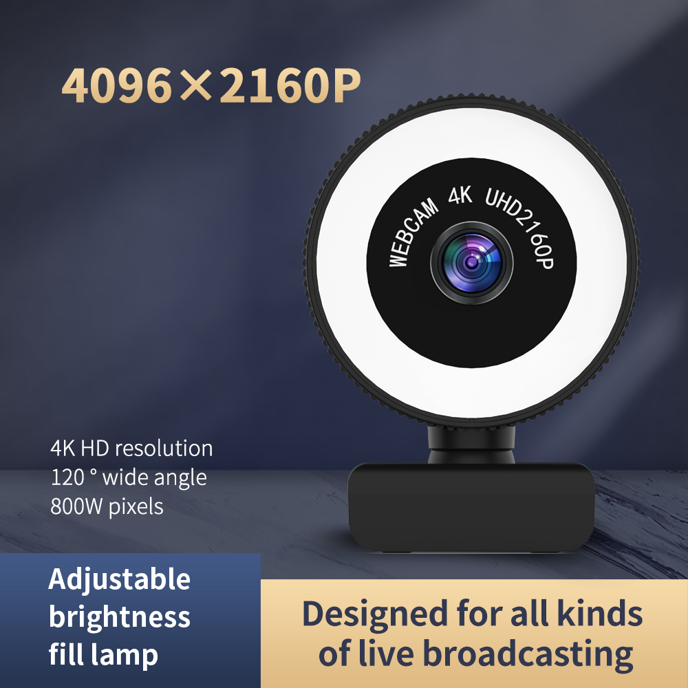 TISHRIC C560 4K 4096*2160 HD Web Cam Webcam Web Camera With Microphone For Computer PC Live Broadcast Video Calling