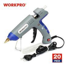 Workpro 30w pistola de cola diy ferramentas alta temperatura quente melt pistola cola com 20 pçs premium cola varas para artesanato uso decoração natal
