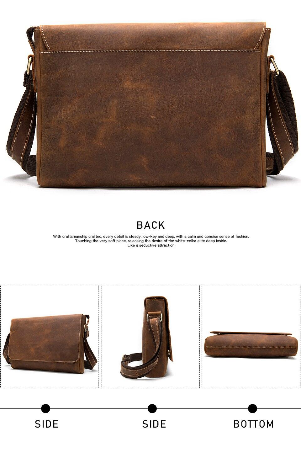 H7b11483cc9d948f8ad5527dc57f913933 WESTAL Men's Briefcases Laptop Bag Leather Lawyer/office Bags Messenger Bags Men's Crazy Horse Leather Briefcases Business Bag