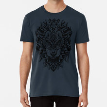 Ornate Lion T shirt lion male alpha male cat animal africa african african animal gato mane(China)