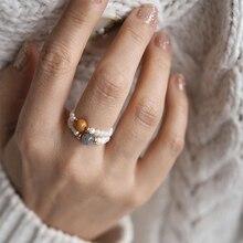 Momiji Irregular Freshwater Pearl Beads Rings for Women Natural Stone Handmade Boho Jewelry Gift Elastic Adjustable Wholesale