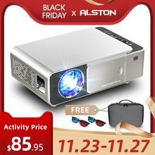 ALSTON T6 full hd led projektör 4k 3500 lümen HDMI USB 1080p taşınabilir sinema Proyector Beamer ile gizemli hediye