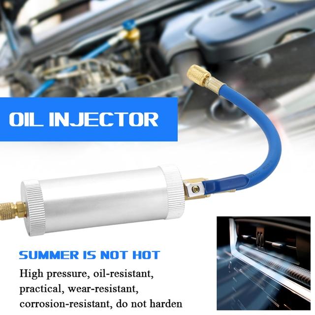 KKMOON صبغ حاقن تكييف الهواء سيارة حقن النفط R12 R134A R22 صبغ حقن 2 أوقية السائل النقي المبرد حشو أنبوب