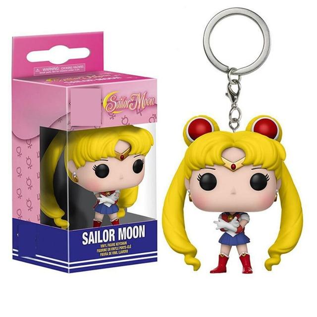 Sailor Moon Keychain Sailor Chibi Moon Action Figure Toys 4cm