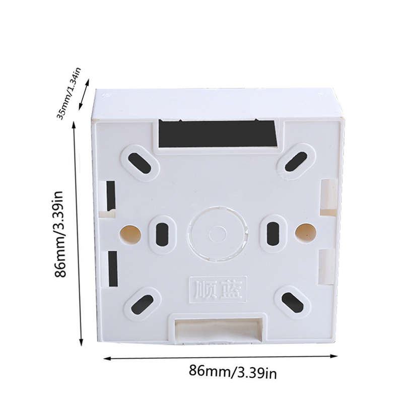 Switch Box PVC Flame Retardant 86 Single Wall Socket Cassette Panel Base Junction Box Socket Back Box