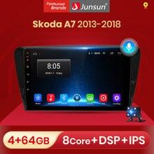 Junsun-Radio Multimedia V1 con GPS para coche, Radio con reproductor, navegador, 2 GB + 32 GB, Android 10,0, para SKODA Octavia 2013, 2014, 2015, 2016, 2018