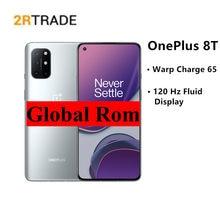 Oneplus 8t qualcomm®Snapdragon™865 e 5g telefone inteligente warp carga 65w 6.55